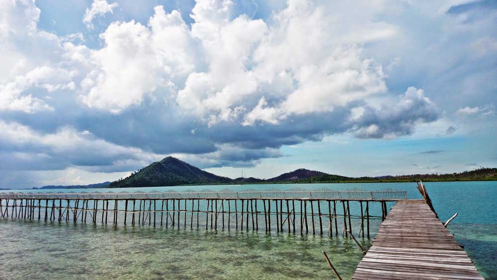 Labun Island Resort with Galang Baru Island View