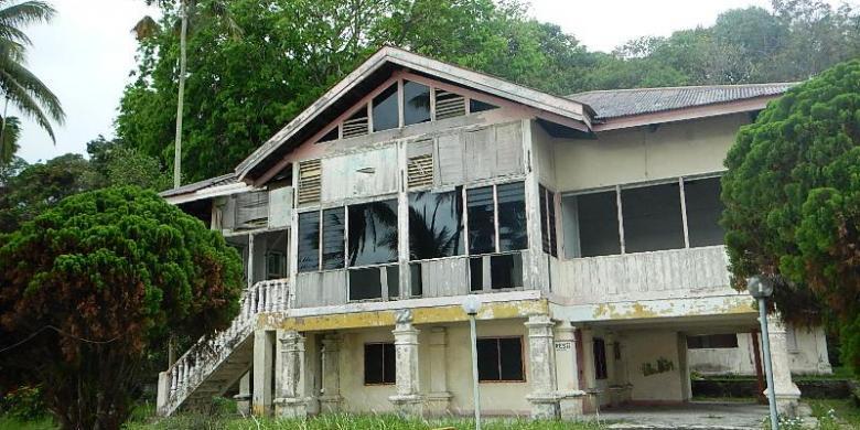 Rumah kosong di Pulau Sambu Batam (travel.kompas.com)