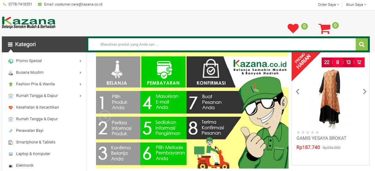 Website Kazana Online