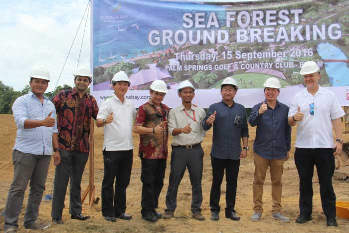 Sea Forest Adventure Nuvasa Bay Batam Groundbreaking photo by jakartakita.com