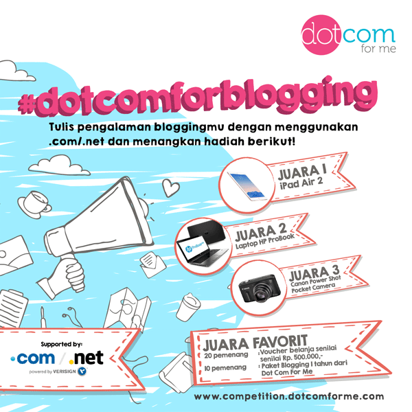 dotcomforme blog competition 01 - Keunggulan menggunakan top domain level .net/.com