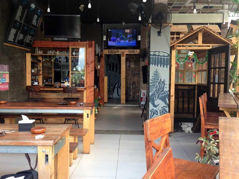 Pemandangan dan tata ruang kafe