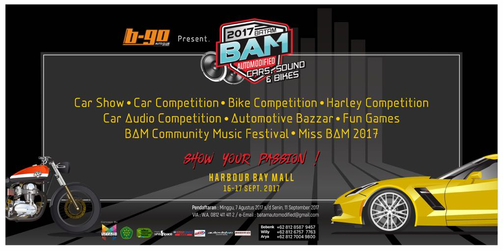Batam Automodified 2017, Harbour Bay Mall, 16 - 17 September 2017