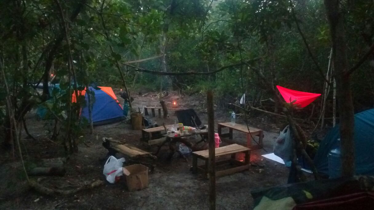 Camping Ground during night time