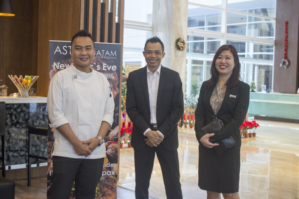 Executive Chef, F&B Manager dan Direktur Sales & Marketing Aston Batam Hotel & Residence