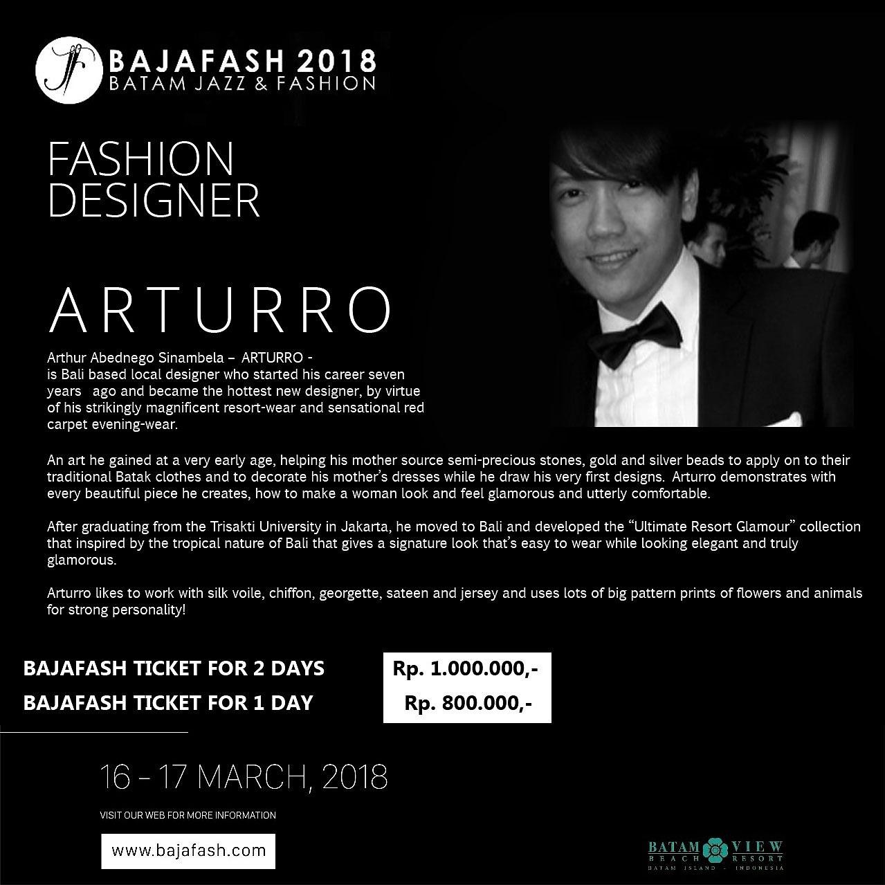 Arturro di Bajafash 2018