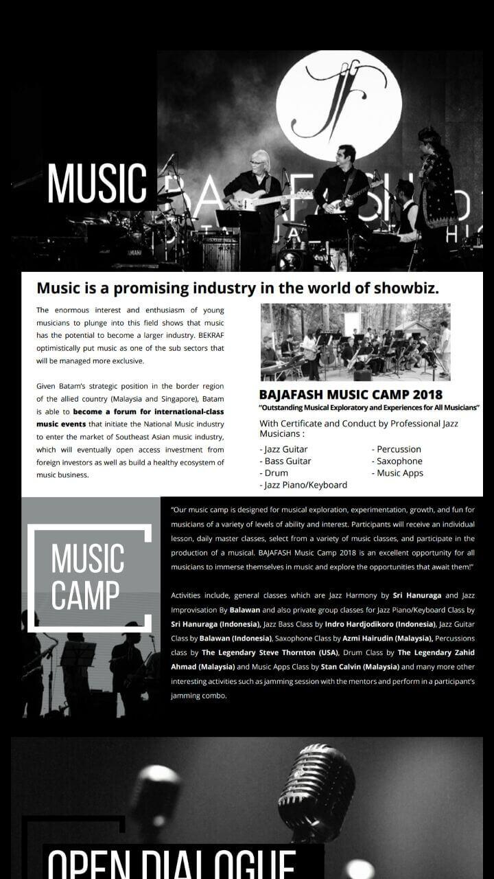 Bajafash music camp 2018 belajar dari ahlinya
