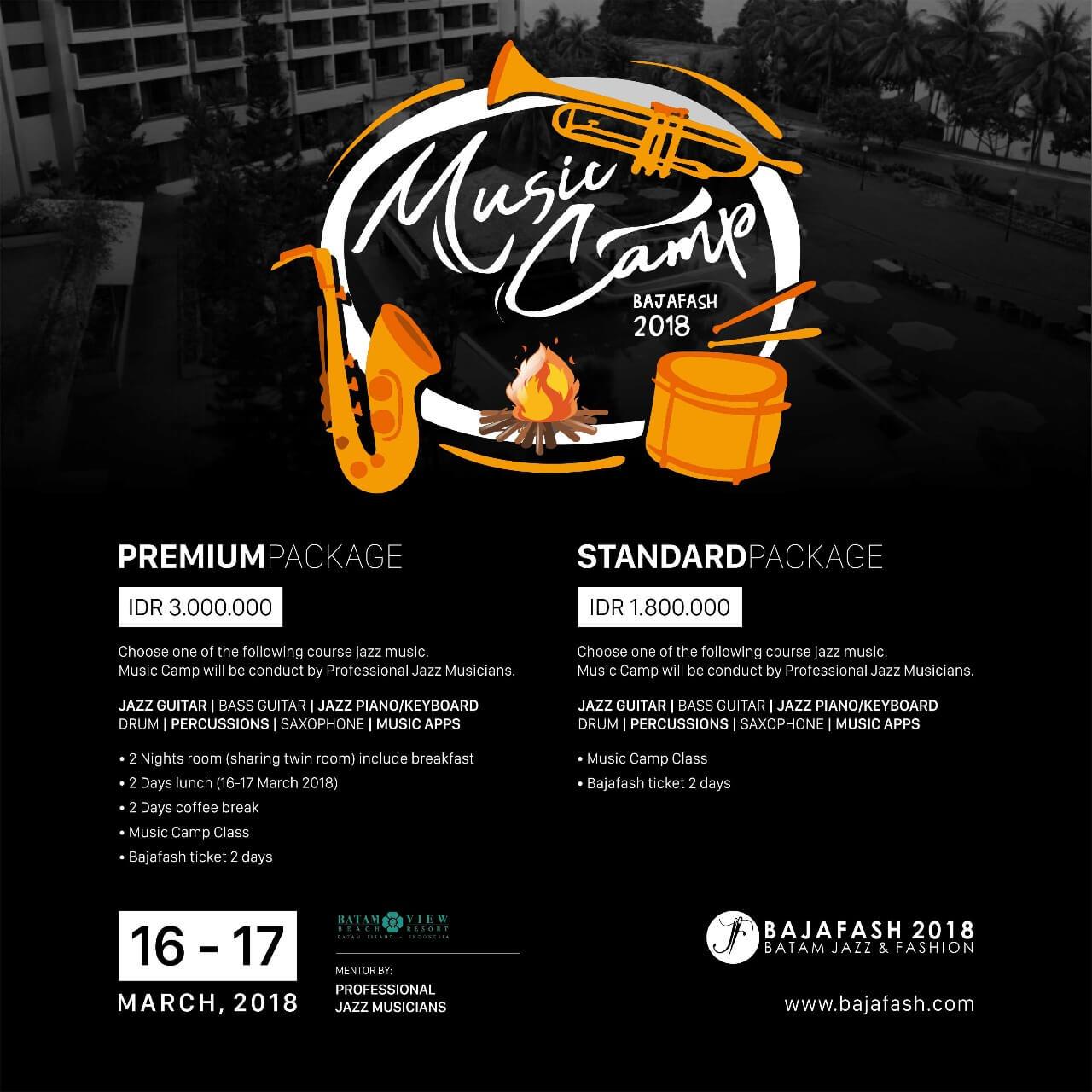 Paket Bajafash 2018 Music Camp