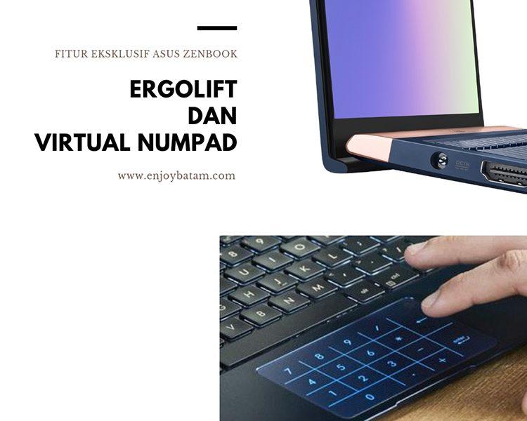 ErgoLift dan Virtual Numpad ASUS ZenBook