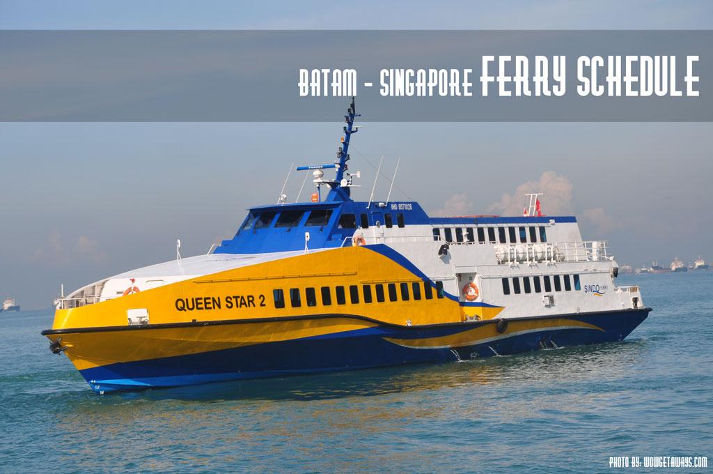 Singapore Batam Ferry Schedule Batam Fast Sindo Majestic