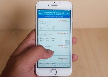 Easy to check train ticket at Traveloka app